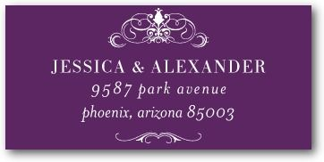 Haute Heraldry - Personalized Address Labels - East Six Design - Black : Front