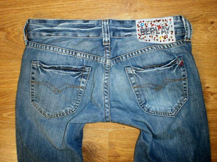 REPLAY Jeans WV 531A Gr. W29 L34 Relaxed Swenfani Low Damen Jeanshose Electra