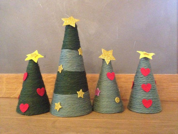 Alberi di Natale polistirolo e lana