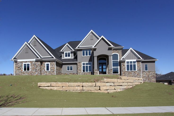 Natural Stone And Dryvit Exterior Great Color