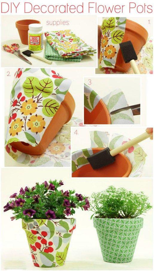 diy decorated flower pots gardening diy pinterest