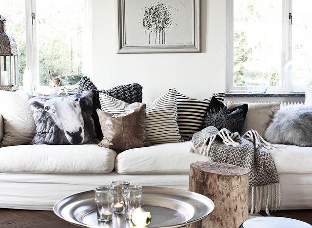 Daniella Witte {white scandinavian eclectic modern living room} by recent settlers, via Flickr