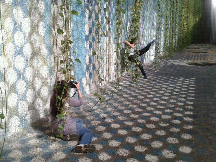Grabando videodanza en TEA Tenerife Espacio de las Artes para el Concierto de Navidad 2012 de la OST en Santa Cruz de Tenerife.