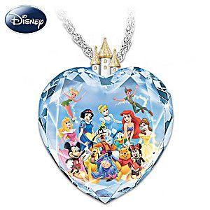 """Magic of Disney"" Crystal Heart Pendant Necklace"