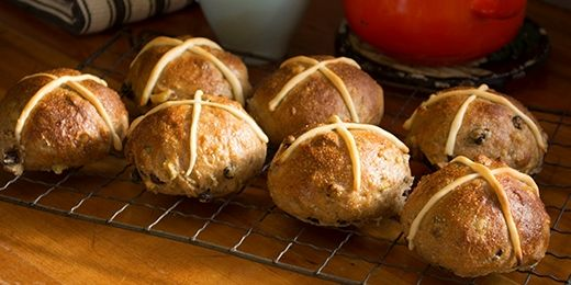 Hot Cross Buns: Haven't tried it myself but its from the Heart Foundation so could be worth a try.  Good Luck