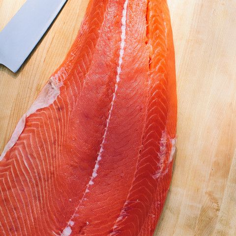 Wild King Salmon Filet | $55. This wild caught King Salmon is fresh never frozen all the way to your door. This 2.5 pound fillet requires a 48 hour delivery time because we don't order it until you do! Available at: manykitchens.com