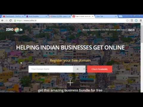 How To Get a Free Domain Name /.in/.net.in [Upload November 2015]