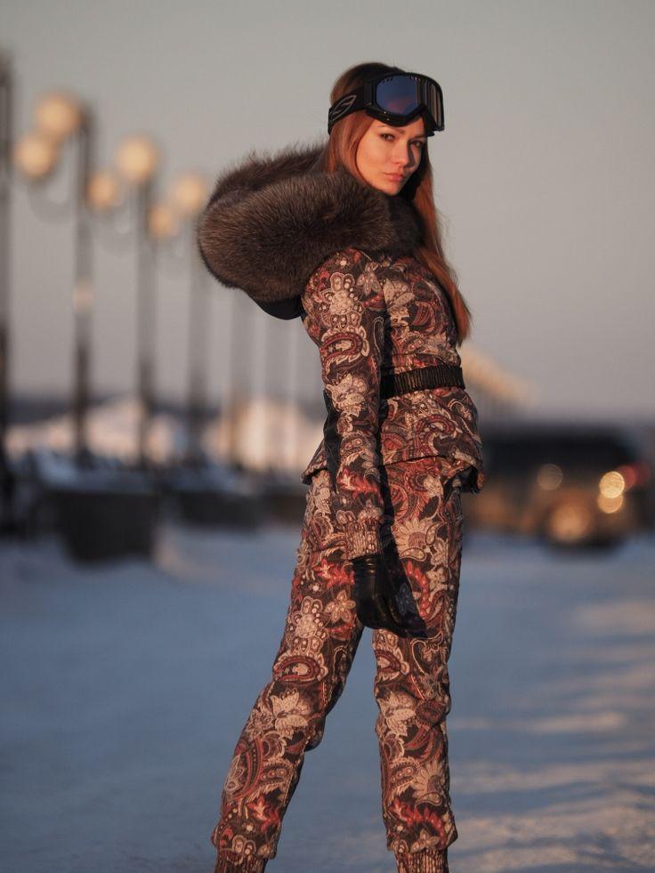 Ski suit, Italian plaschovka, leather, fur. | Fur hoods ...