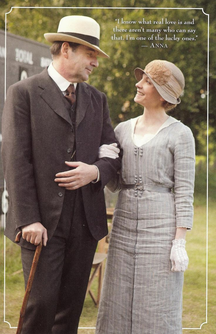 """""""I know what real love is and there are not many who can say that. I'm one of the lucky ones."""" ~ Anna Smith #DowntonAbbey"""