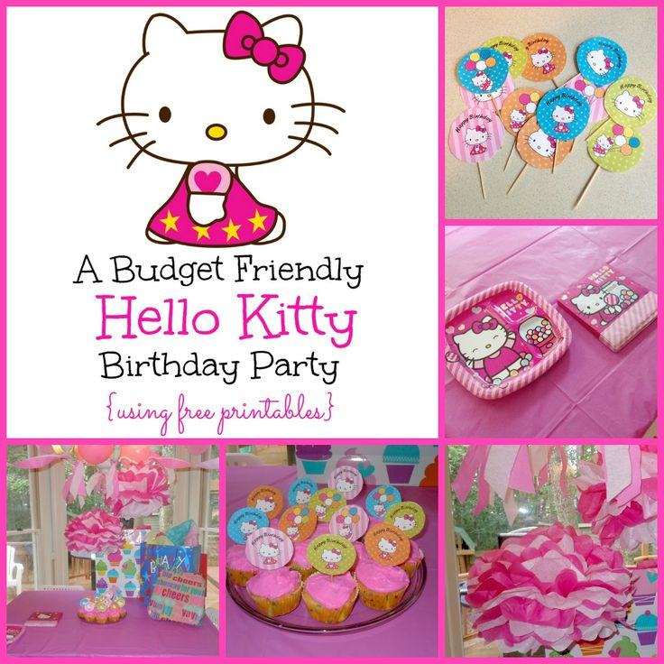Best Fiesta Hello Kitty Images On Pinterest Birthday Cakes - Free hello kitty birthday invitation templates