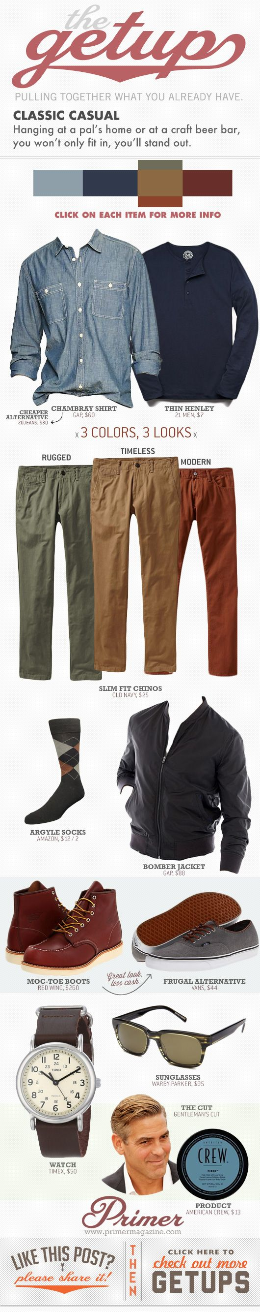 The Getup: Classic Casual - Primer
