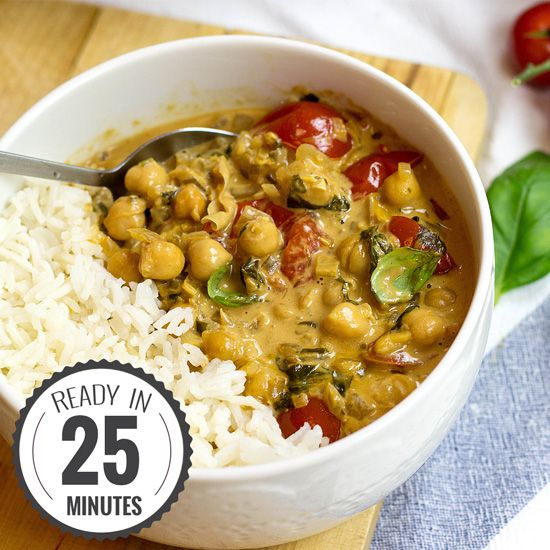 Vegan Chickpea Curry. Uses curry paste eg https://uk.pinterest.com/pin/193584483961067025/ or http://www.food.com/recipe/tikka-paste-292315 or http://www.taste.com.au/recipes/30535/indian+masala+paste