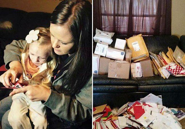 Centenas de cartões de Natal chegam todos os dias em uma caixa postal no estado norte-americanoUtahendereçados a Addie Fausett. O motivo pelo qual esta menina de 6 anos tem recebido tantos cartões é que este pode ser o último Natal de sua vida. Diagnosticada com uma rara doença que fez com que seu cérebro atrofiasse, a menina não tem muito tempo de vida e os pais, claro, quiseram fazer deste um Natal muito feliz. A garota ficava contente sempre que uma correspondência chegava pelo correio…