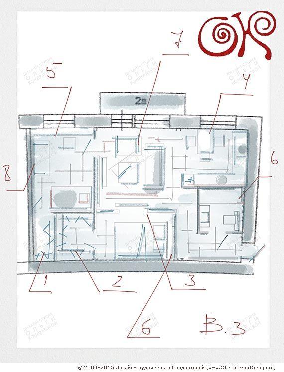 Эскиз планировки http://www.ok-interiordesign.ru/planirovochnye-resheniya-eskizy.php