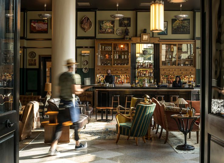 2017 Best Of The Hotel Awards Restaurant Interior DesignRestaurant InteriorsLibrary FurnitureAce HotelNew Orleans
