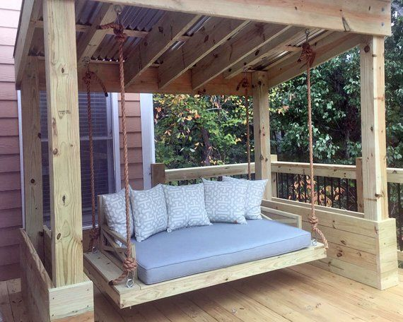 Sunbrella Custom Daybed Cushion Crib Bed Size Porch Swing Etsy Outdoor Daybed Cushion Outdoor Daybed Porch Swing Bed