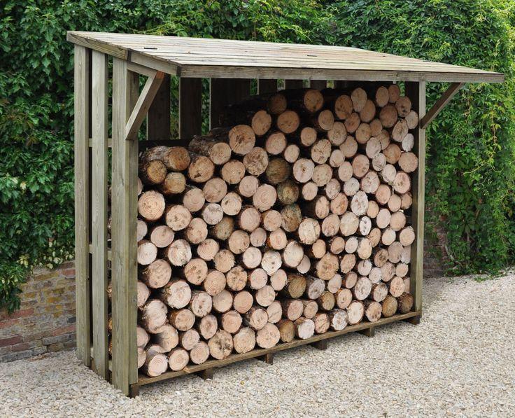 7X4 Pent Wooden Flip Roof Log Store | Departments | DIY at B&Q
