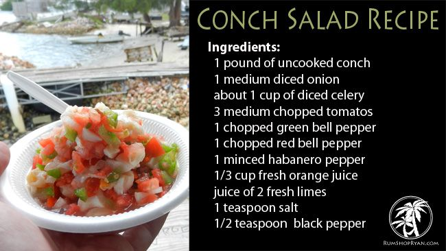 Conch Salad Recipe. #Bahamas #Caribbean #Food