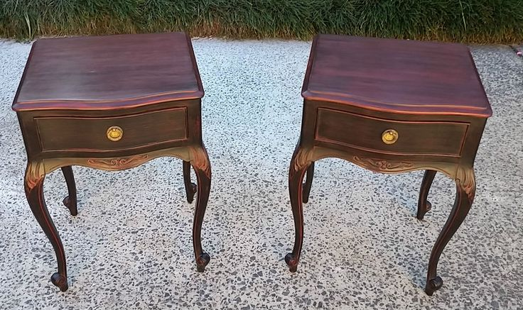 BeautifulFrench Style Vintage Bedside Tables