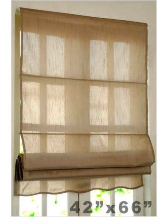 "#DecoWindow #Blinds Roman Blind Bangalore Silk 36"" Black Beige on Special Price of ₹899.00"