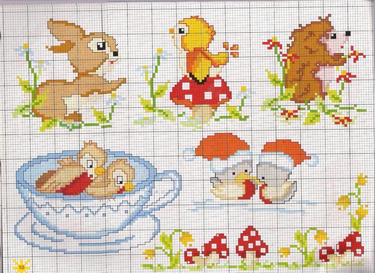 www.magiedifilo.it gallery var albums Schemi-Punto-Croce Bambini Animali-Per-Bambini animali%20riccio%20coniglietto.jpg?m=1365178035