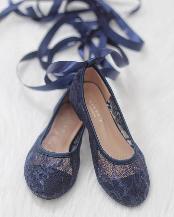 NAVY New Lace Ballerina Flats With