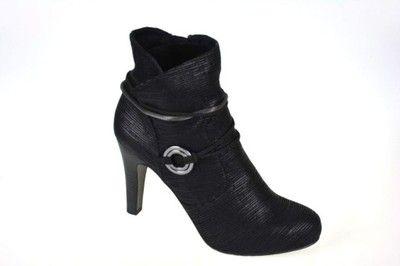 Czarne szpilki idealne na imprezy marki Tamaris ->->-> http://allegro.pl/botki-czarne-tamaris-r-37-25372-27-i6591750994.html