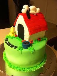 Snoopy allongé sur sa niche <3