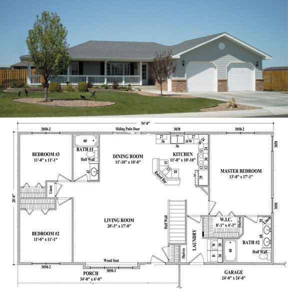 Mankato Ii Floorplan Warcraft Homes Floorplan For Modular Homes In Colorado North Dakot And South Dakota C Dream House Plans Ranch House Plans New House Plans
