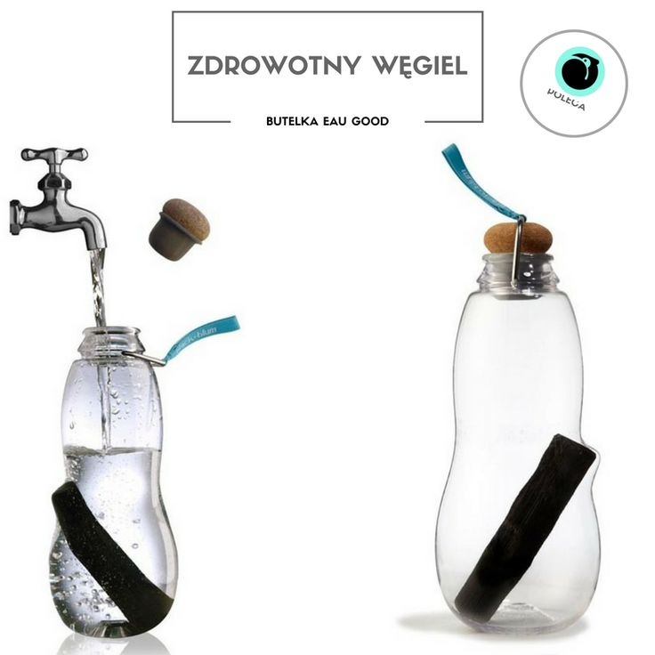 """Nowość na Maleomi! Butelka z """"białym węglem"""" który filtruje wodę z kranu - oczyszczając ją oraz napełniając istotnymi dla zdrowia minerałami! Całość dopełnia niestandardowy design! : http://maleomi.pl/butelki/7862-bb-butelka-na-wode-eau-good-niebieska- 5060089721222.html #butelka #woda #węgiel #zdrowie #fit #fitness #hydration"""