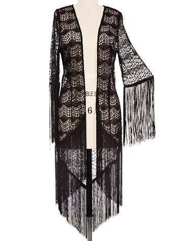 Bohemian Beauty Lace Kimono Jacket  AT vintagedancer.com