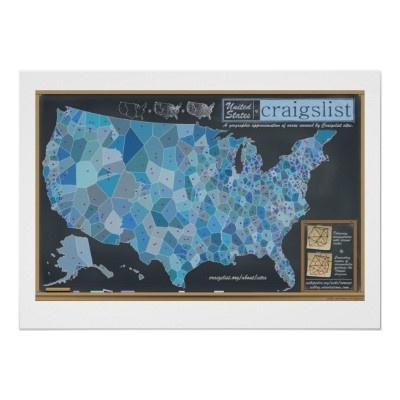 The United States of Craigslist Poster | Zazzle.com ...
