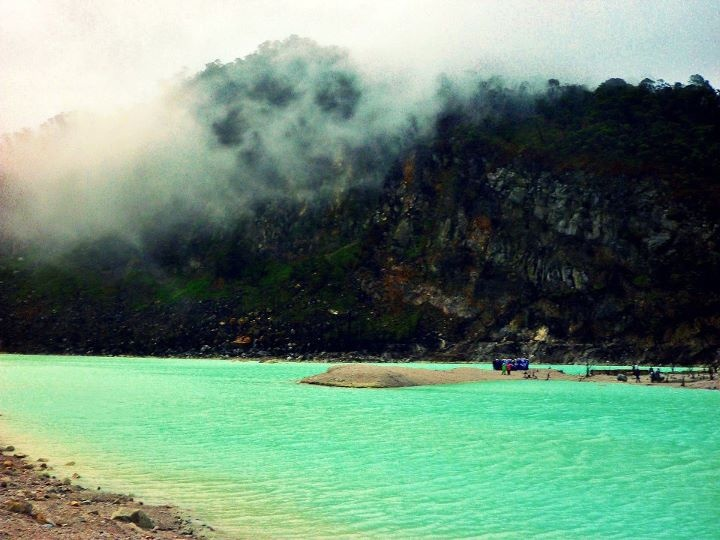 The most beautiful volcanic lake in Ciwidey Bandung - Indonesia