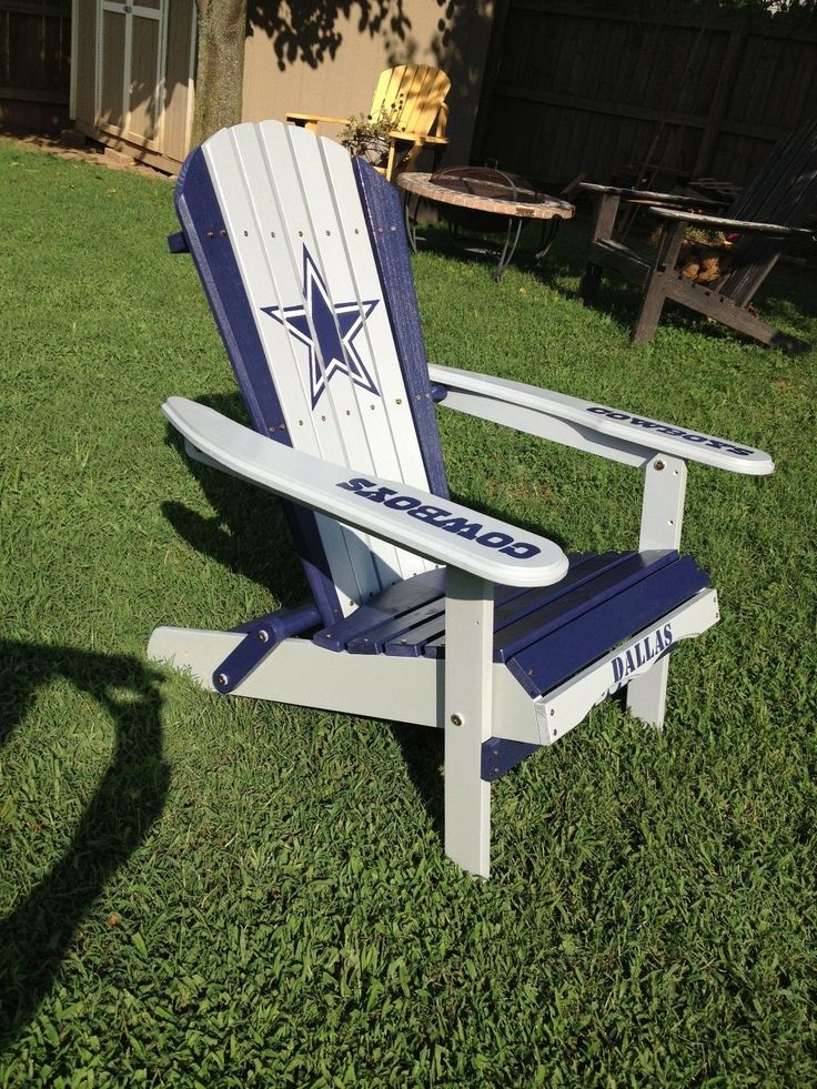 HAND PAINTED DALLAS COWBOYS FOLDING ADIRONDACK CHAIR *NFL FOOTBALL  TAILGATING | Home U0026 Garden,
