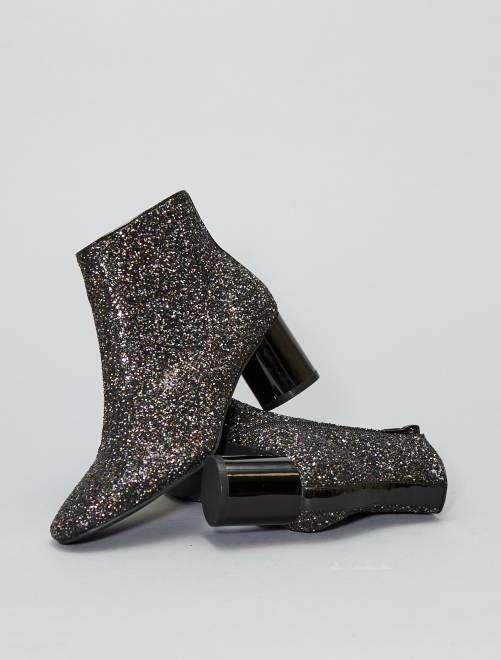 Zapatos Zapatos D A Brillos y grises N con brillos P A R Botines J A Y T R wavOpBq