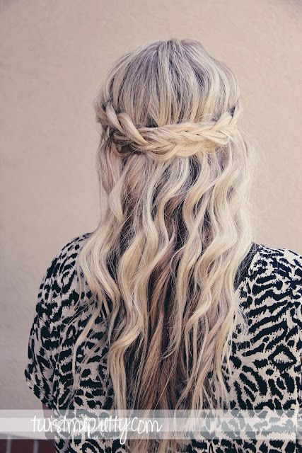 A Hairstyle Tutorial - Good for Senior Photo Sessions | Braided Crown | Twist Me Pretty