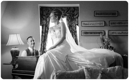 Holst Photography | Wedding Photographer This is your classical wedding shot of bride and groom playing on the piano to his lovely new bride