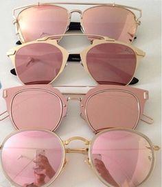 Image result for rose gold cat eye sunglasses