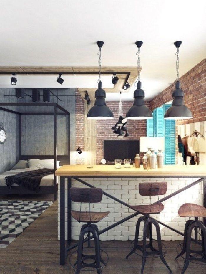 Стилизованная под лофт студия 41м² в Мытищах – Красивые квартиры
