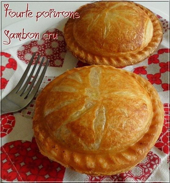 ♥ Tourtes individuelles poivron jambon cru ♥