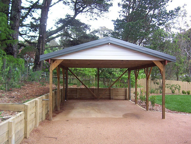 Carport timber gable 74 for Gable roof carport
