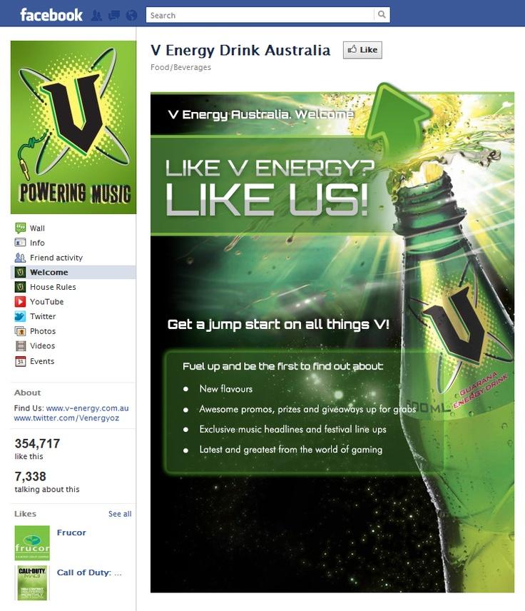 Tab Facebook: V Energy Drink Australia