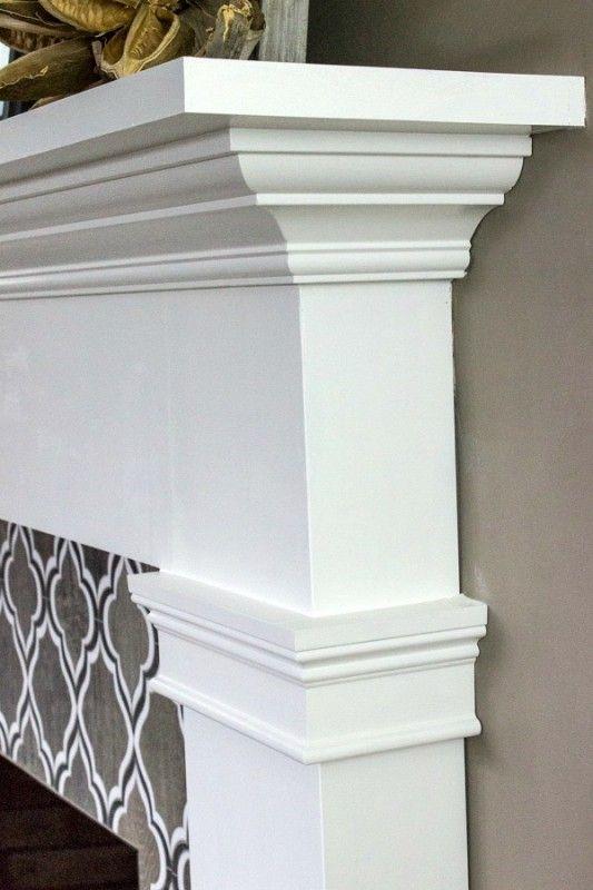 Profile of fireplace mantel