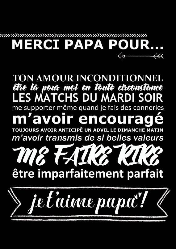 Pdf Affiche Affiche Fête Des Pères Cadeau Papa Je