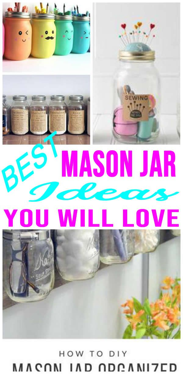 Diy Mason Jar Ideas Mason Jar Diy Bathroom Organization Diy Mason Jar Bathroom