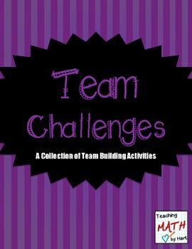 Get your students interacting with each other while putting their problem solving skills to work! They will love these activities! Activities included:Skyscraper ChallengeThe Bridge ChallengeFlying Saucer ChallengeWheelbarrow ChallengeCatapult ChallengeBoard Game ChallengeThe activities in this resource are designed to be used as team building activities in the math classroom.