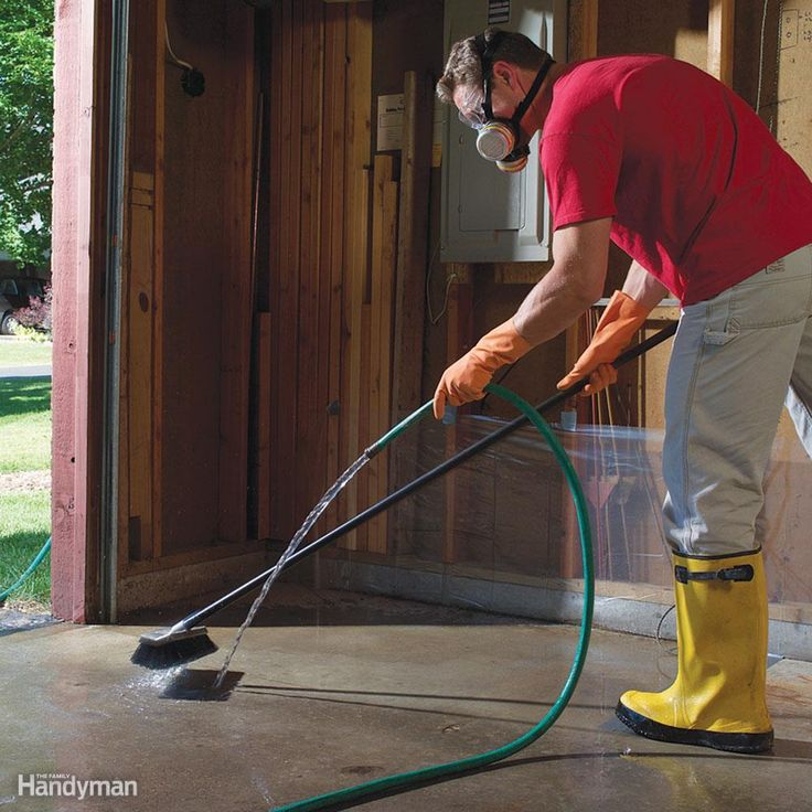 1995 best handyman tips images on pinterest for the home for Garage floor cleaning tips