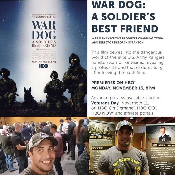 #wheresdarby wednesday: TDPs Richard Loza had the opportunity to attend the early viewing of @hbodocs War Dog: A Soldier's Best Friend  . A FILM BY EXECUTIVE DIRECTOR CHANNING TATUM  AND DIRECTOR DEBORAH SCRANTON . This film delves into the elite world of the U.S. Army Rangers handler warrior/k9 teams revealing a profound bond that endures long after leaving the battlefield. . PREMIERES NOVEMBER 13 on HBO 8 PM ADVANCED PREVIEW AVAILABLE STARTING NOVEMBER 11 on HBO On Demand HBO NOW HBO GO…