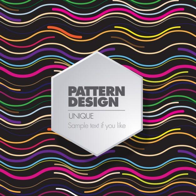 Neon pattern design Free Vector