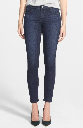 Free shipping and returns on AG Ankle Super Skinny Jeans (Coal Blue) at Nordstrom.com. Soft distressing enhances the saturated blue wash of these figure-flattering stretch-denim jeans cut in a cropped ankle length.